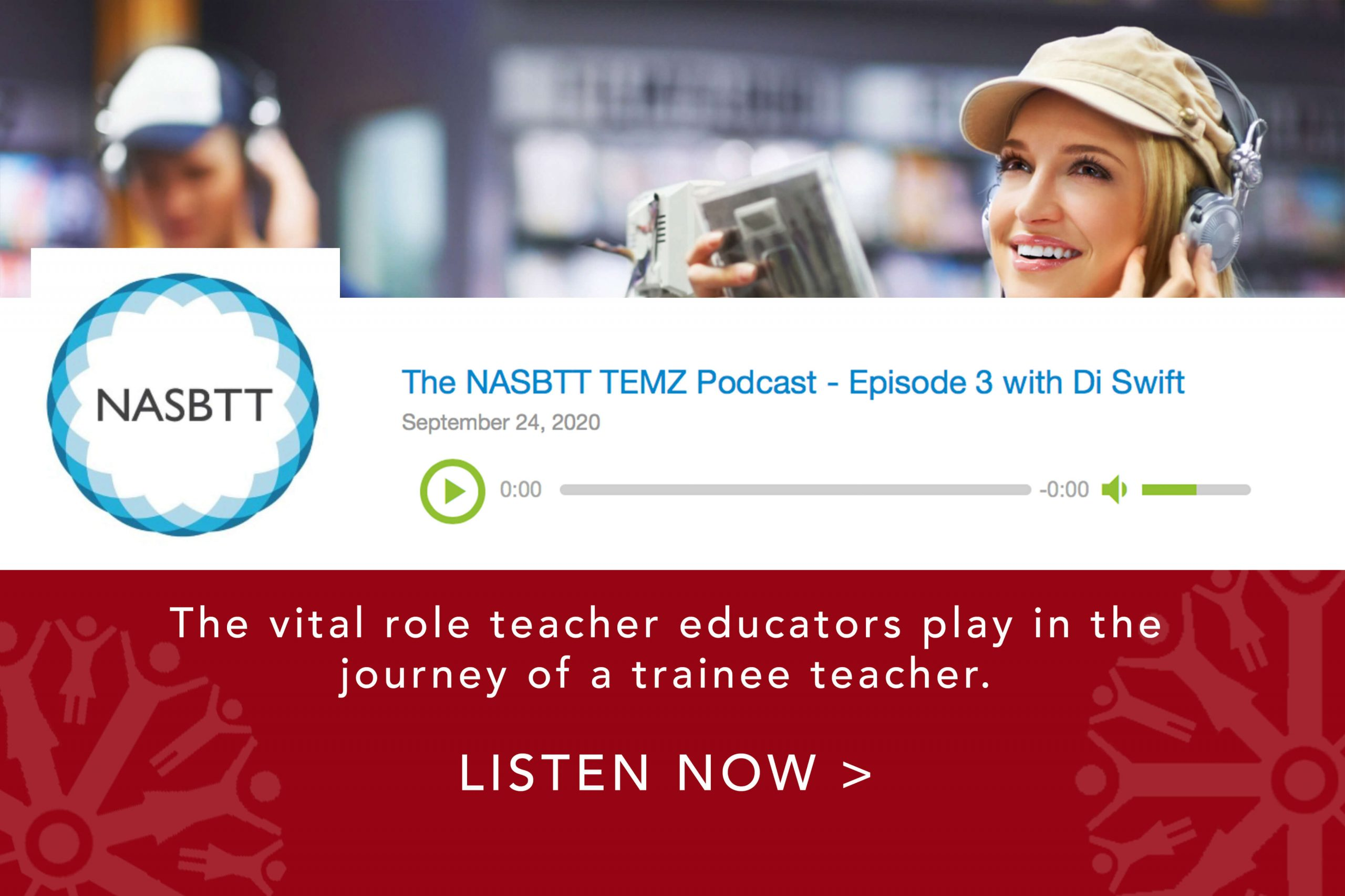 CTeach Regional Provider Di Swift, Executive SCITT Director at Keele and North Staffordshire Teacher Education. Di discusses the vital role teacher educators play in the journey of a trainee teacher. LISTEN NOW